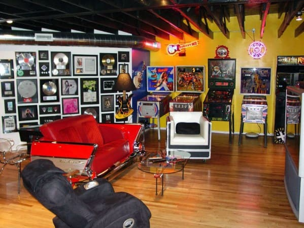 Arcade Gaming Man Cave Basement Designs