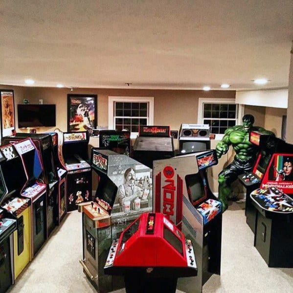Man Cave Arcade Facebook : Gaming man cave design ideas for men manly home retreats