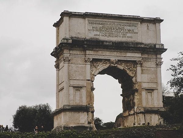 Arch Of Septimius Severus Roman Forum Rome Italy