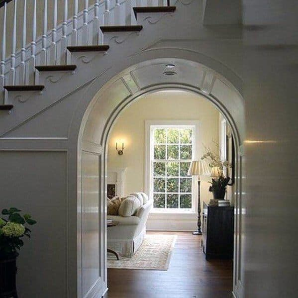 Arched Walkway Under Stairs Ideas