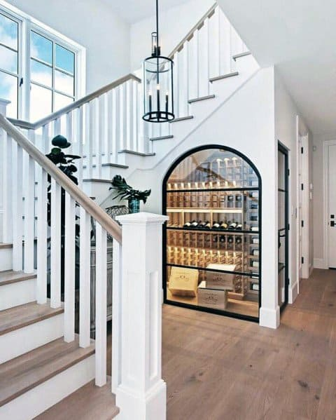 Arched Wine Cellar Ideas For Home Under Stairs