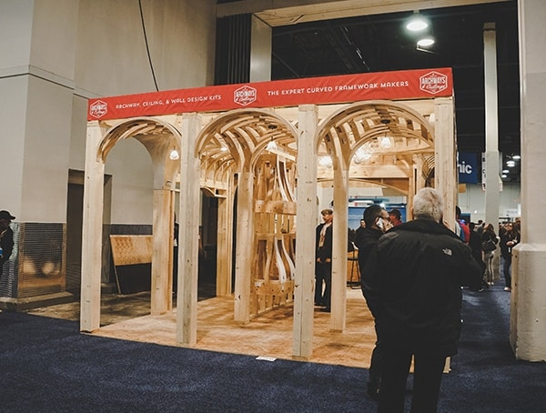 Arched Wood Ceilings Framing 2019 Nahb International Builders Show