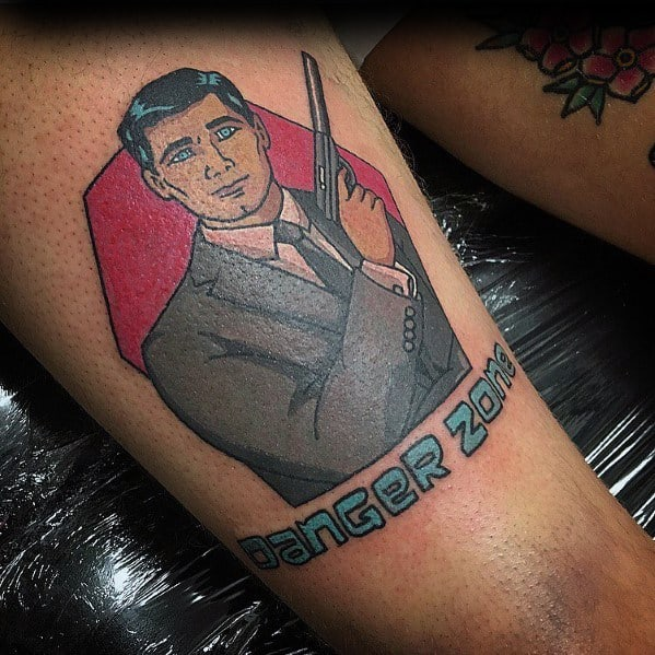Archer Tattoos For Men On Thigh