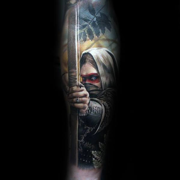 Archery 3d Coolest Tattoos For Guys On Forearm Sleeve