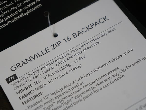 Arcteryx Granville 16 Zip Backpack Details And Highlights
