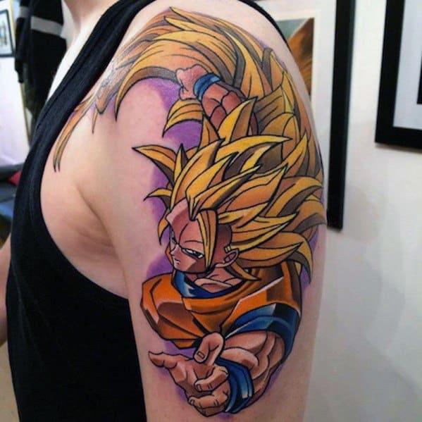 Arm 3d Anime Tattoos Male