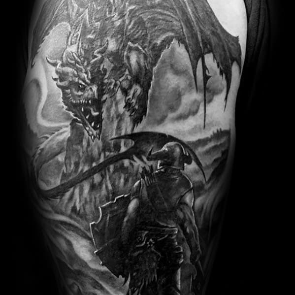 Arm 3d Cool Male Skyrim Video Game Tattoo Designs