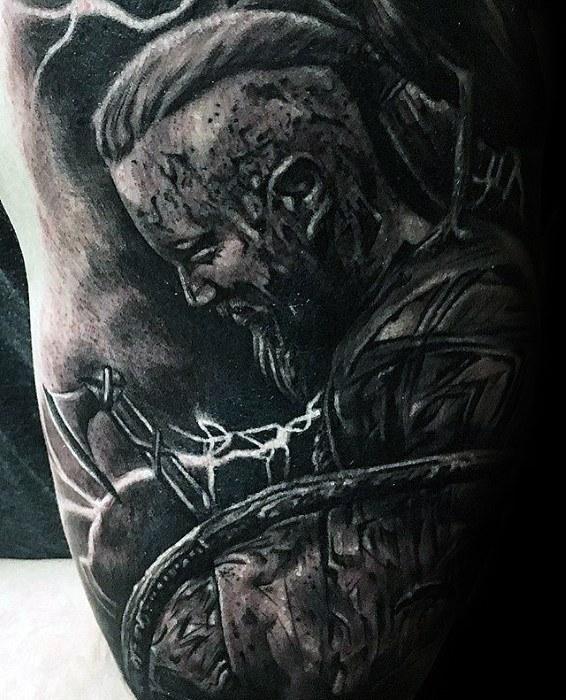 Arm 3d Ragnar Male Tattoo Ideas