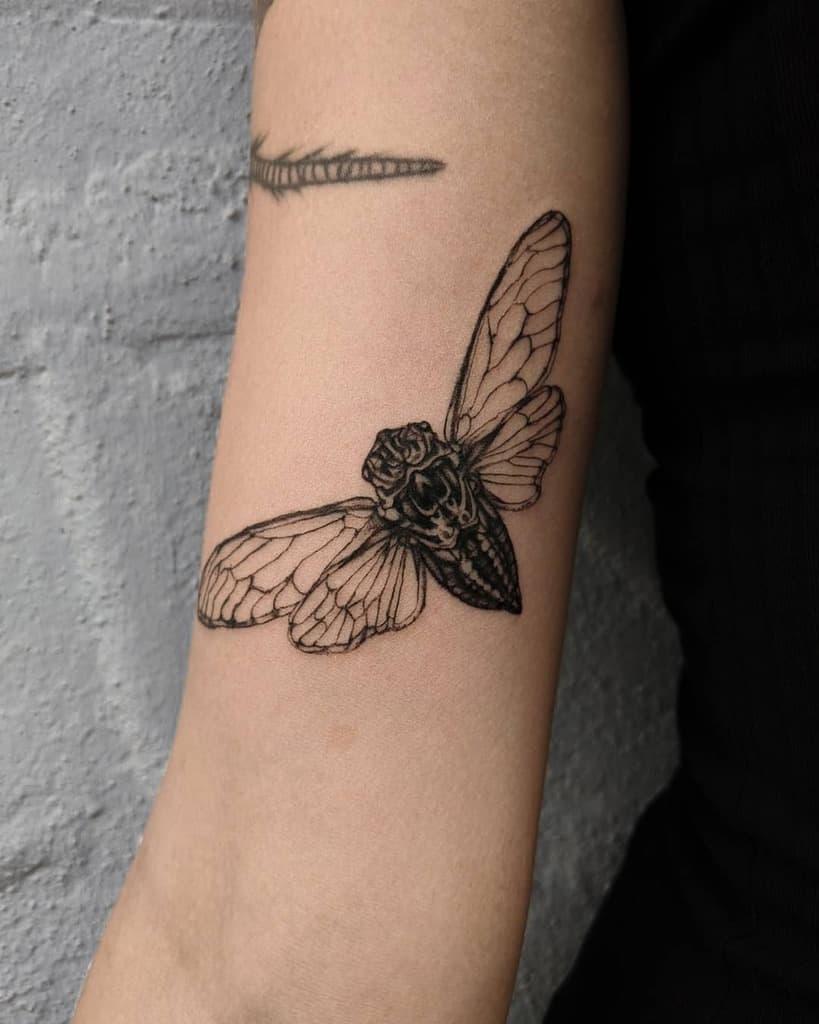 arm Cicada Tattoos deivabruixa