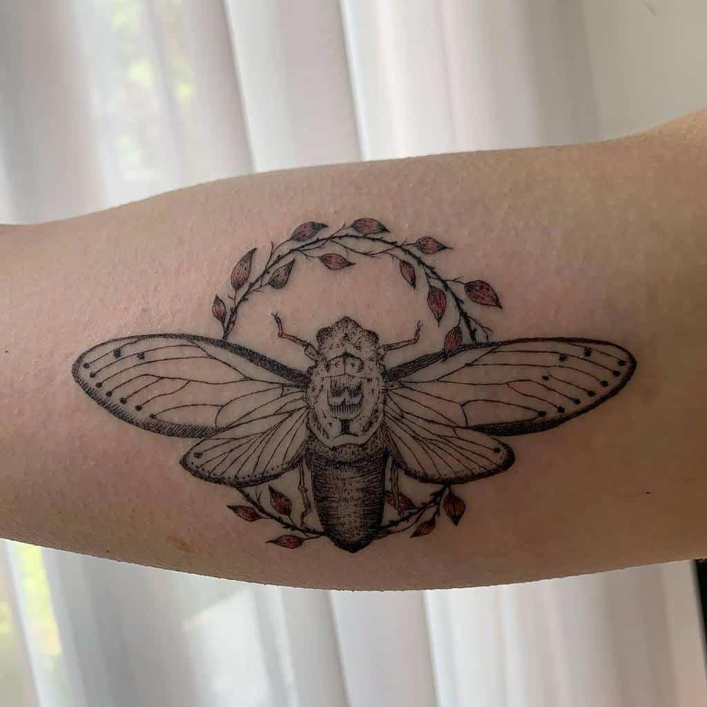 arm Cicada Tattoos rachelwoodtattoo