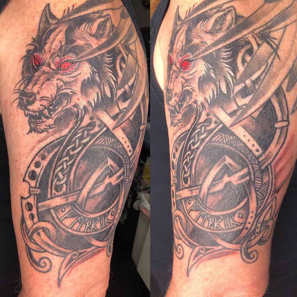 arm Norse Wolf Tattoos havanastreettattooshop