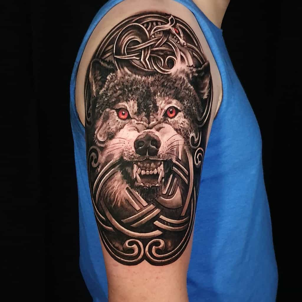 arm Norse Wolf Tattoos jawor66688