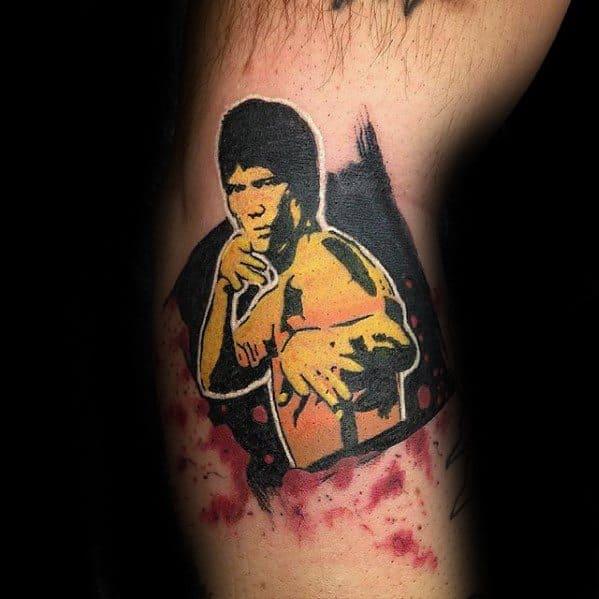 Arm Abstract Bruce Lee Guys Tattoo Ideas
