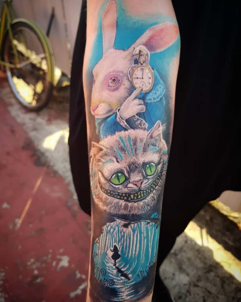 arm alice in wonderland tattoos diegopositivetattoo
