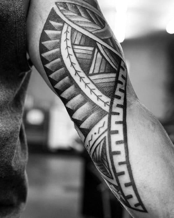 Arm And Forearm Guys Polynesian Tribal Tattoos