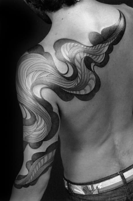 Arm And Shoulder Eel Tattoo Ideas For Gentlemen