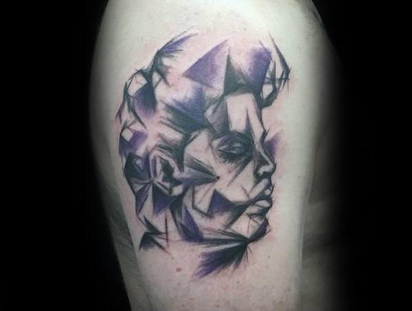 Arm Artistic Geometric Prince Tattoos Guys