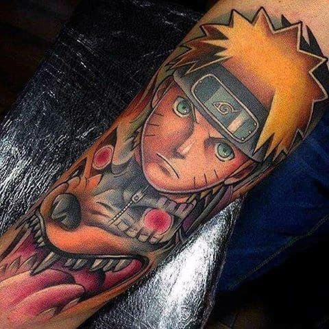 Arm Artistic Male Naruto Tattoo Ideas