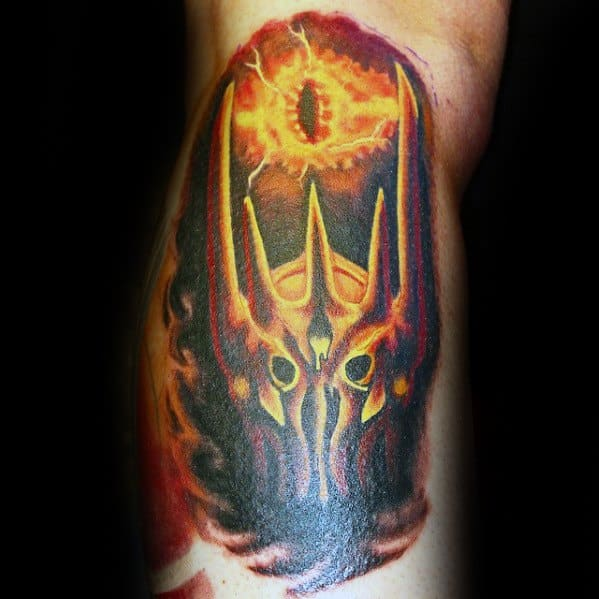 Arm Awesome Ink Eye Of Sauron Tattoos For Men