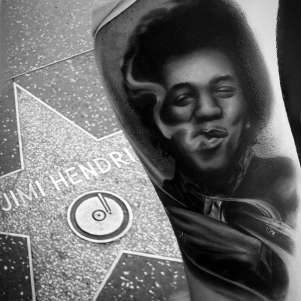 Arm Awesome Jimi Hendrix Tattoos For Men