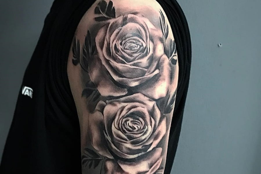 Top 81 Best Black and Gray Rose Tattoo Ideas – [2020 Inspiration Guide]