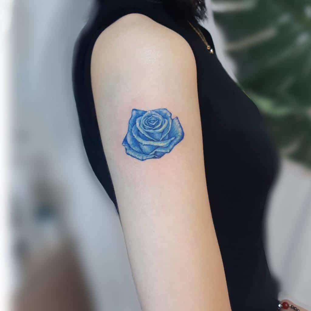 arm blue rose tattoos tatooist_ongi