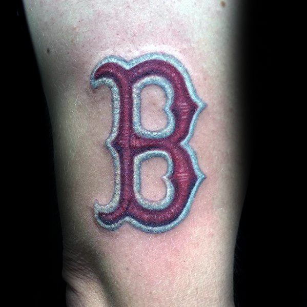 Arm Boston Red Sox Embroidered Patch Tattoos Guys