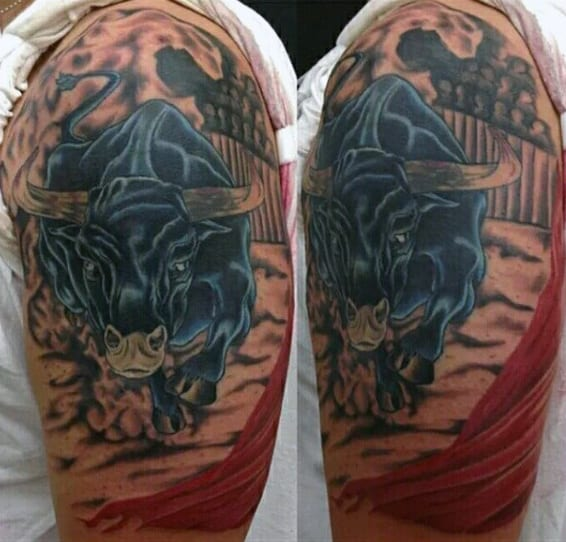 Arm Bulls Tattoo For Men