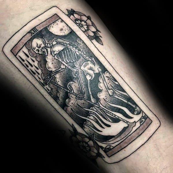Arm Card Guys Tarot Tattoo Deisgns