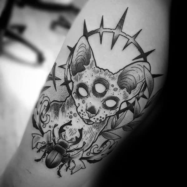 Arm Cat Tattoo Designs For Gentlemen