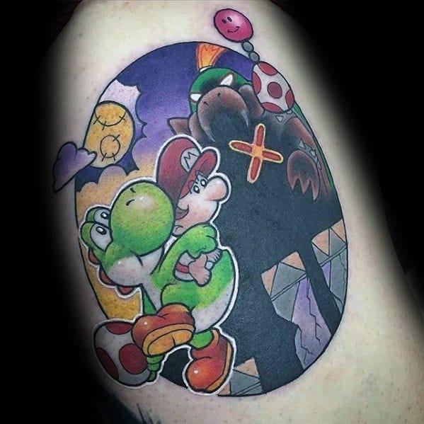 Arm Circle Yoshi Tattoos Guys