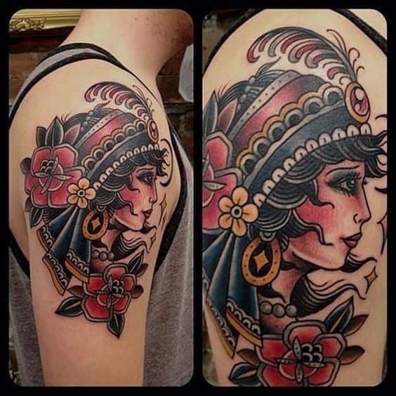 Tatouage Gypsy Couleur Bras