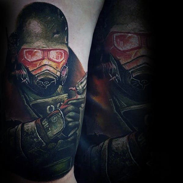Arm Creative Fallout Tattoos For Men