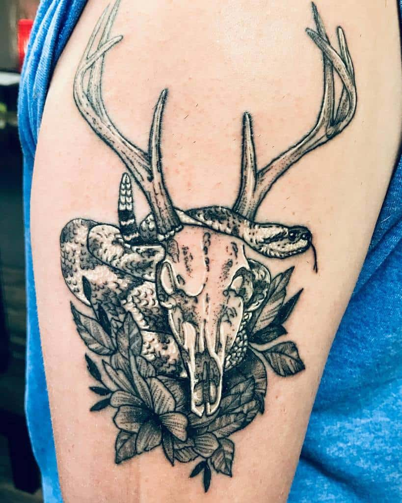 arm deer skull tattoo galelevins