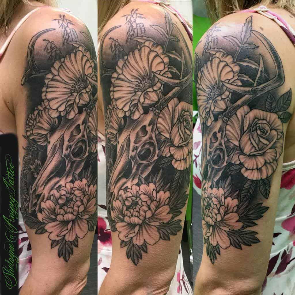 arm deer skull tattoo shelayne.anipegtattoo