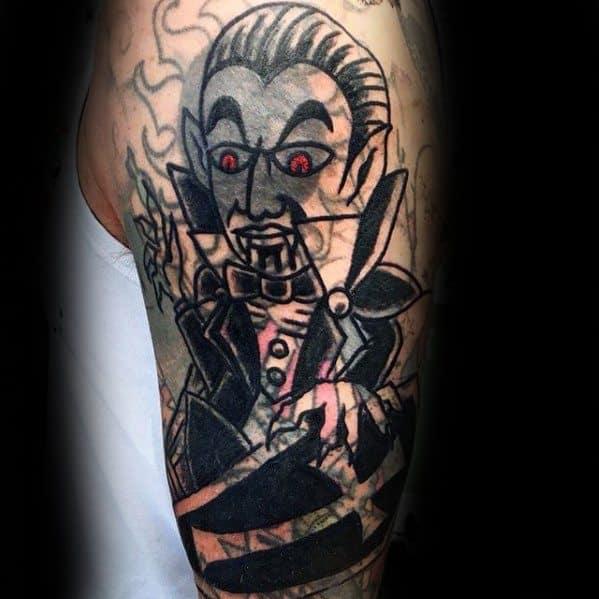 Arm Dracula Incredible Blast Over Tattoos For Men