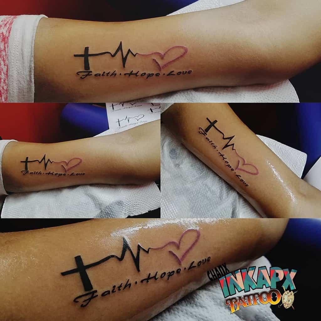 arm faith hope love tattoos inkapx