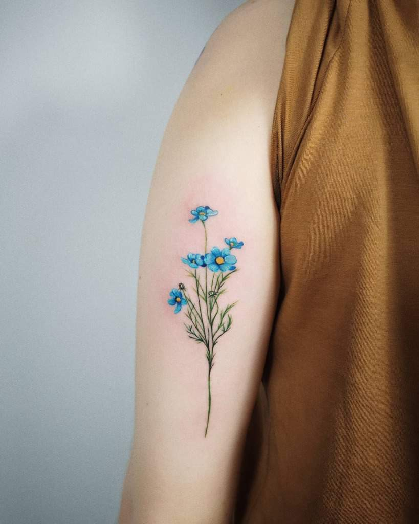 arm forget me not tattoos _tosz
