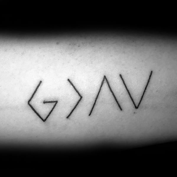 Arm God Is Greater Than The Highs And Lows Male Tattoos