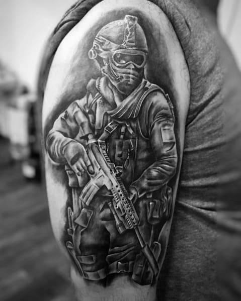 Arm Guys Cool Call Of Duty Tattoo Ideas