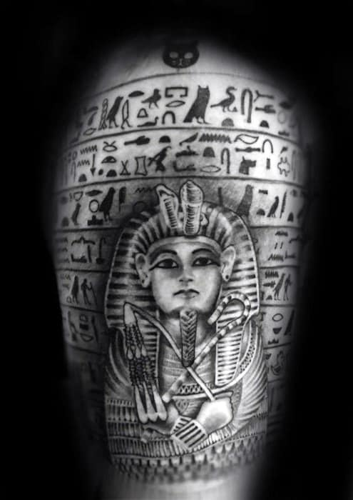 Arm Guys Hieroglyphics Tattoo Design Ideas
