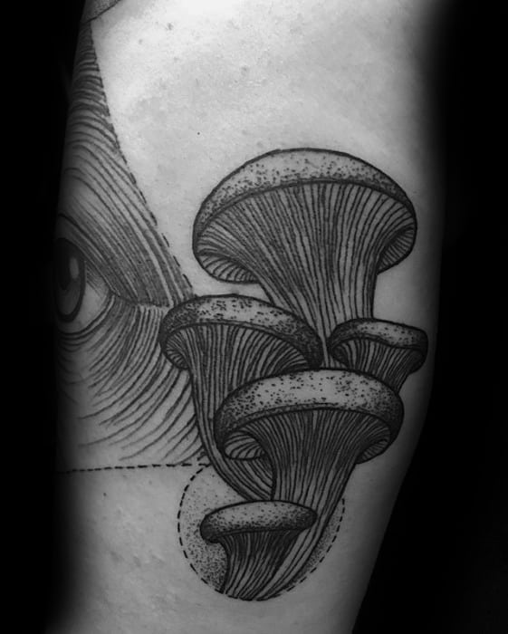 Arm Guys Mushroom Tattoos