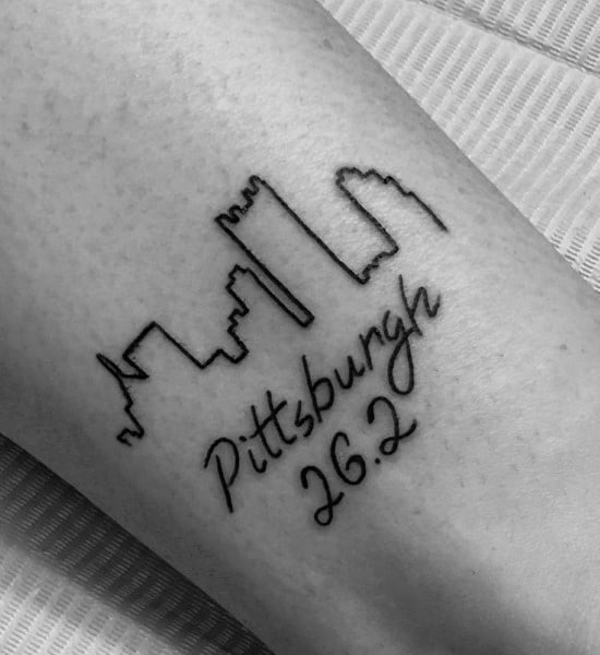 Arm Guys Pittsburgh Skyline 26 2 Tattoo Design