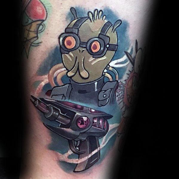 Arm Guys Rick And Morty Tattoo Deisgns