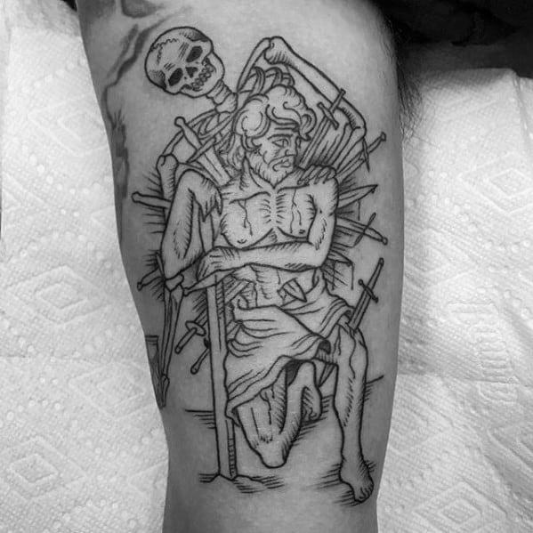 Arm Guys Tarot Tattoo