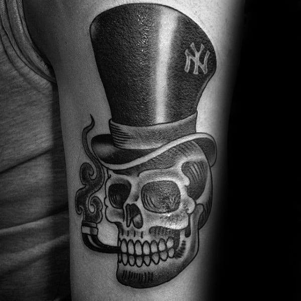 Arm Guys Top Hat Tattoo Deisgns
