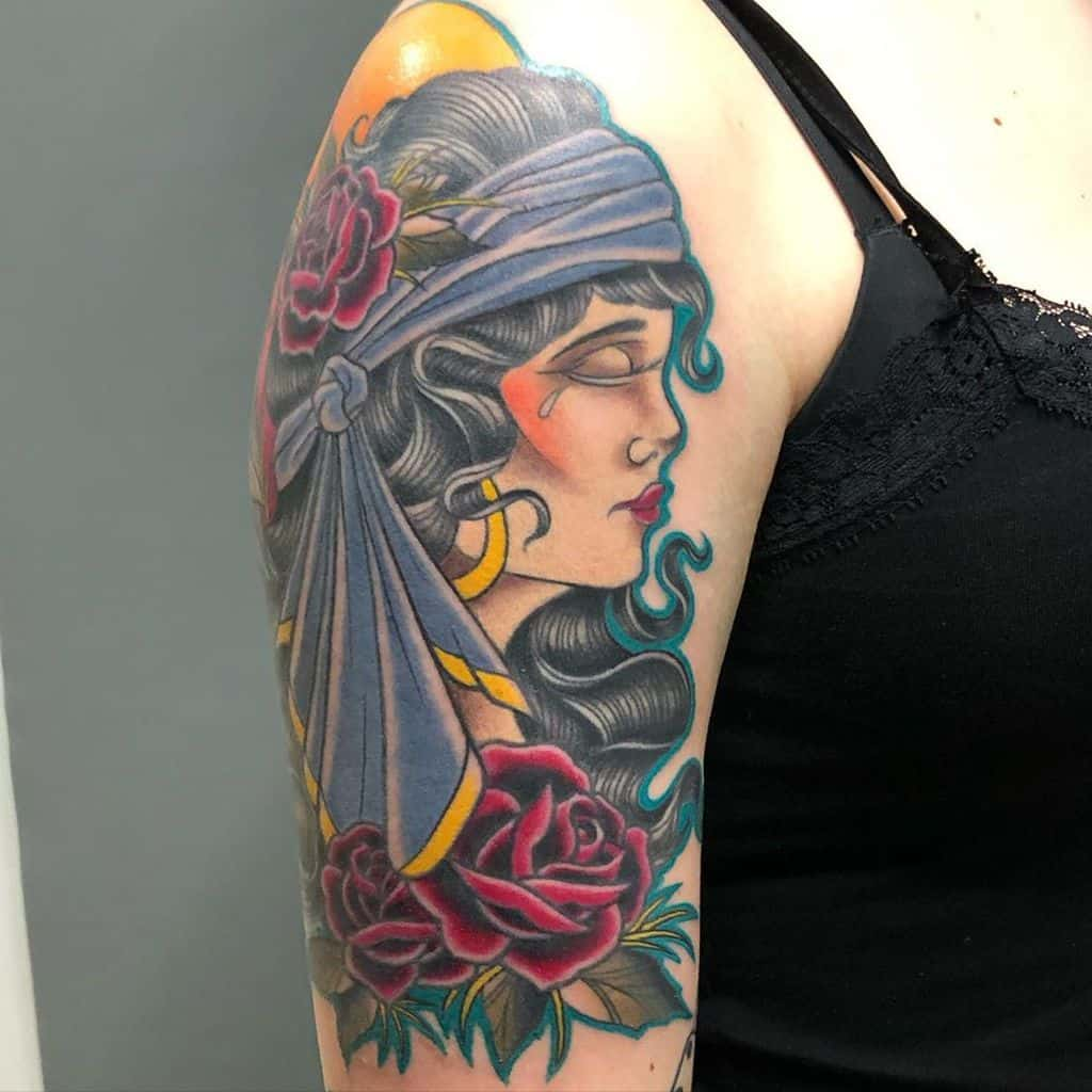 arm gypsy rose tattoos joan_rie_tattoo