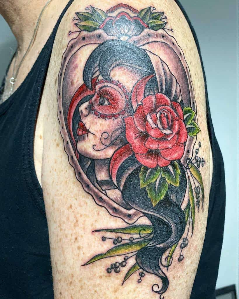 arm gypsy rose tattoos traci_heaslewood_tattoo