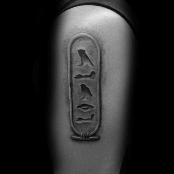 Arm Hieroglyphics Mens Tattoo Designs