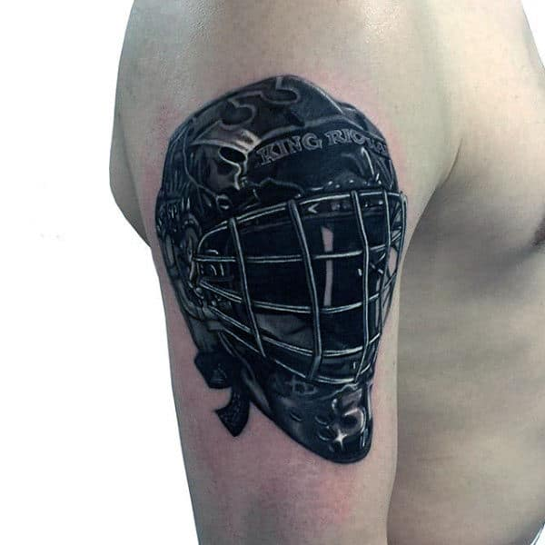 Arm Hockey Mask Tattoos For Gentlemen